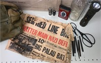 US Military Bag with items & Posters