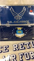 Air Force Plates, Patch & Stickers