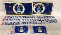 Air Force Plates & Stickers