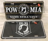 POW * MIA License Plates & Patches