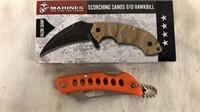 Marines G10 Hawkbill Knife