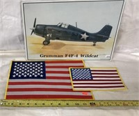 Wall Hanging & 2 American Flags