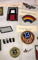 Lots of Hard to Find Military Patches & Buckle