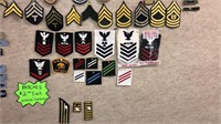 Large Collection of Military Patches