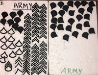 Army Chevron Pins