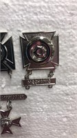Real Silver Military Issued Pins