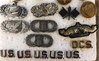 Military Issued Uniform Collar Pins + more