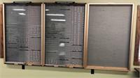 3 Section Felt Display Case