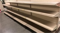4 Sections of Center Shelving