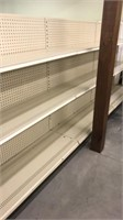 6 Sections of Center Shelving