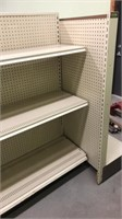 5 Sections of Shelving With End Section