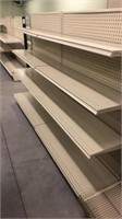 3 Sections of Shelving With End Section