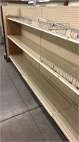 4 Sections of Shelving With End Section