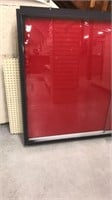 Glass Display Case With Lock