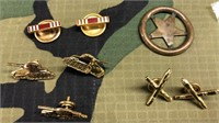 Military Issued Collar Pins & material