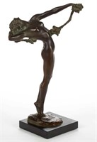 "Harriet Whitney Frismuth (American,1880-1980) ""The Vine"" bronze figure, Gorham Foundry mark"