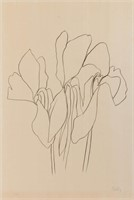 "Ellsworth Kelly (American, 1923-2015) ""Cyclamen"" lithograph (c. 1966), signed and number ""43/75"""