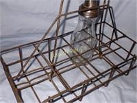Antique Oil Bottle Carrier