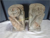 Cast Cement Bookends