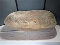 Carved Ol' Dough Bowl