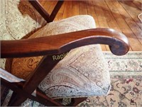 Wood Inlay Antique Chair