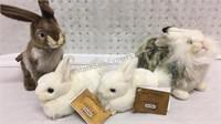 4 Hansa Portraits of Nature Rabbit Stuffed