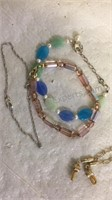Assorted Costume Jewelry Necklaces, Clip On