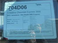 2013 CHEVROLET EXPRESS 3500 CUTAWAY