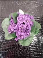 Artificial purple flower, Leaf bookends