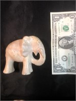 Two Elephant and One Lion Stone Figurines