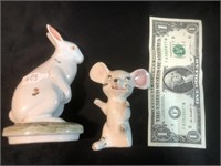 Porcelain Rabbit and Mouse