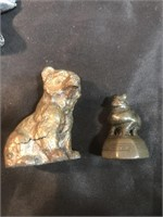 Wooden Monkey, Stone Bird Head, Stone Horse,