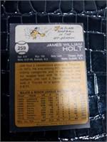 Jim Holt Baseball Card