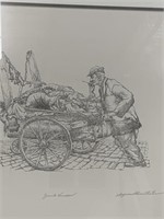 """Junk Vendor? print by Seymour Rosenthal"
