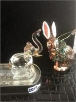 Christmas ornament & glass crystal light animal