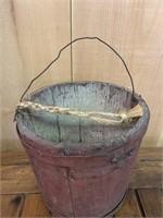 Early Wooden Sap Pail