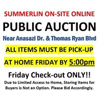 ALL ITEMS MUST BE PICKED UP BY FRIDAY BY 5PM
