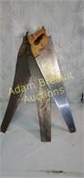 3 vintage wood hand saws