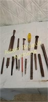 Assorted chisels and punches