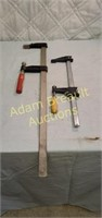 16in and 17 in wood clamps