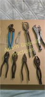 8 pair assorted pliers