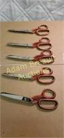 5 pairs Mark Serra sharp 454 - 8 scissors, made
