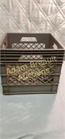 Vintage Embest plastic milk crate