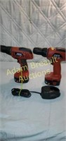 2 Skil 12 volt cordless drills with charger