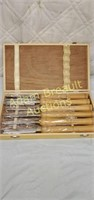 6 piece Craftsman wood lathe knife set, new