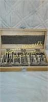 16 piece forstner bit set with wood storage box