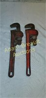 2 Rigid and Fuller 10in pipe wrenches