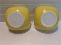 Vintage Pyrex Yellow Custard/Fruit Bowls