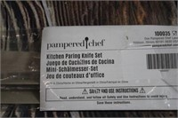 Pampered Chef Paring Knife Set of 3  NEW