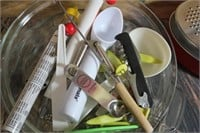 Lot of Misc. Kitchen Items Candy Thermometers